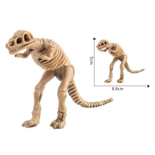 Packung mit 12 Kunststoff Dinosaurier Skelette Modellfiguren Große Party