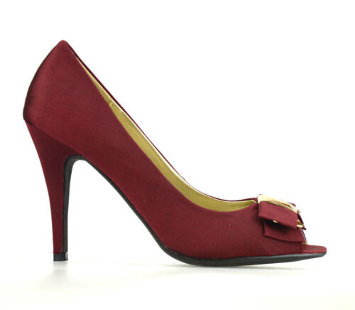 Ladies Womens New Stiletto High Heel Peep Toe Work Pumps Party Court Shoes Size