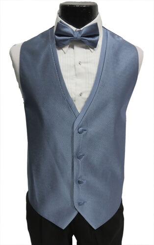 Large Long Mens Diamond Mist Blue Tuxedo Fullback Vest /& Tie Prom Wedding Formal