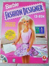 Barbie Fashion Designer Cd Rom Pc 1996 For Sale Online Ebay