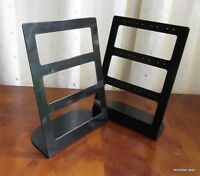 PAIR of Acrylic Earring Display Stands - BLACK - opaque