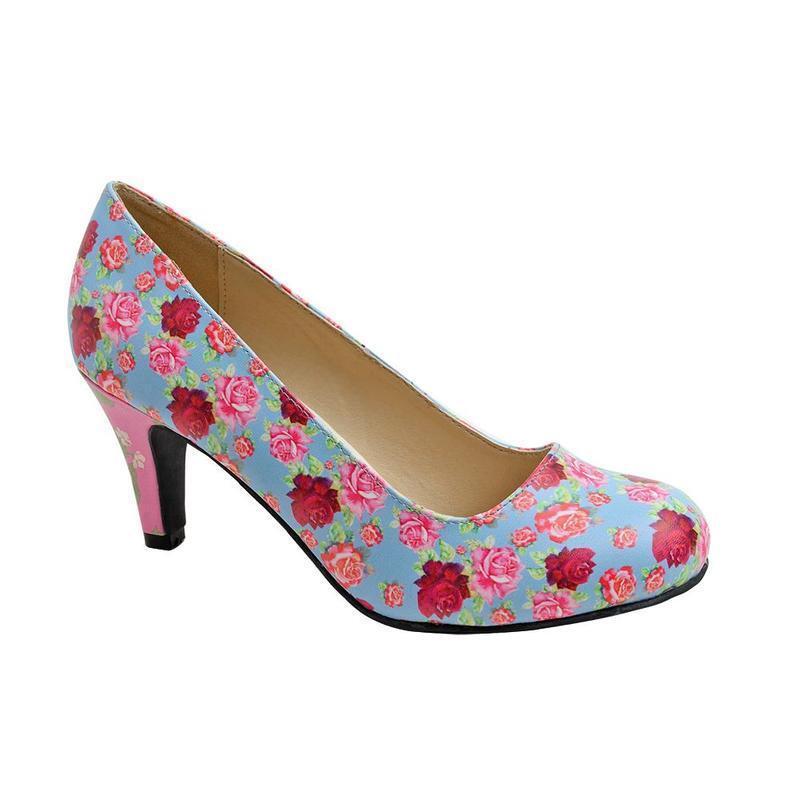 T.U.K A9010L Multi Color Floral Mix Heel