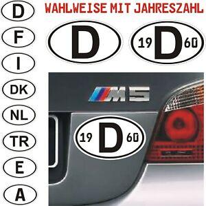 D-Schild-Aufkleber-13x8cm-Laenderkennzeichen-mit-ohne-Jahreszahl-nach-Wunsch