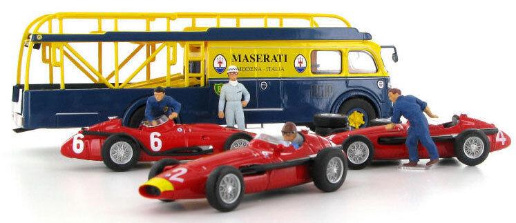 Brumm Maserati 250F 1957 Race Transporter 3 Car Set - 1 43 Scale
