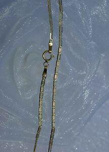 45 Cm Halskette PlÄttchenkette 750 Gold 18 Kt *tricolor* Massiv Neu