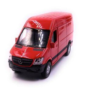 Mercedes-Benz-Sprinter-Furgone-Modellino-Auto-Rossa-Auto-Scala-1-3-4-Licenza