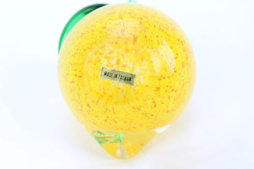 "Beautiful Art Glass Decoration Yellow Peach Fruit Taiwan Heavy 3.5/"" Kitchen 1 lb"