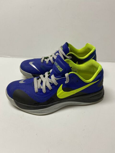 Nike Zoom Hyperfuse Low Blue/Green Men's Size 9 Basketball Shoes  555034-402