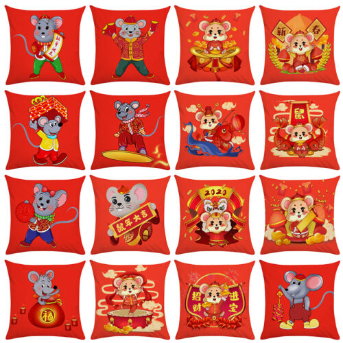 Cute Pillow Case Cushion Cover CW/_ Chinese New Year Home Sofa Bed Decor