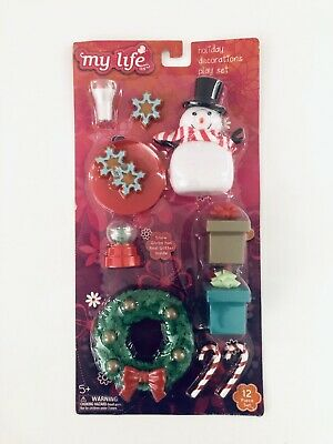 """NEW My Life As Holiday Decorations Play Set for 18/"""" Dolls"""
