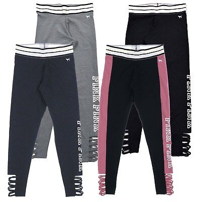 bb2adcdf322cb Victoria's Secret Pink Leggings Yoga Pants Cutout Athletic Bottom Workout  New Vs | eBay