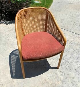 Terrific Details About Vintage Mid Century Danish Modern Caned Barrel Chair Make Offer Bralicious Painted Fabric Chair Ideas Braliciousco