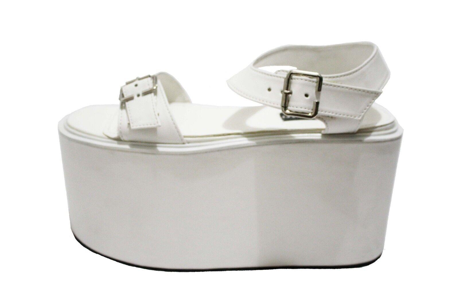 Monster blancooo Charol Gaga II Zapatos de de de plataforma Talla 8.5 MSRP   271.95  tienda en linea