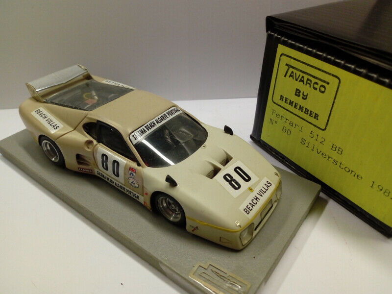 REM080 Tavarco by Remember Ferrari 512 BB  80 Silverstone 1980