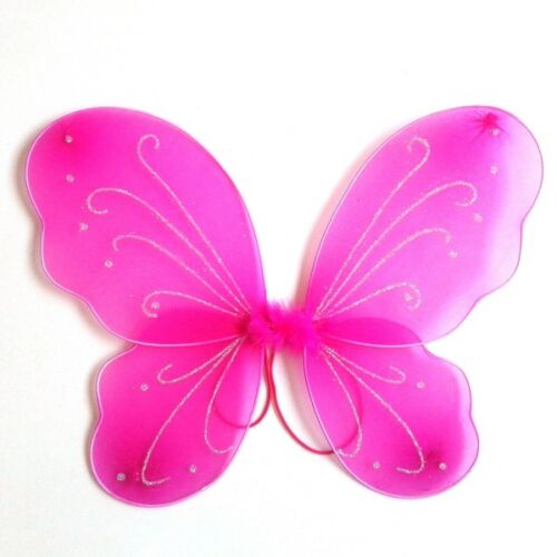 Princess Child Kid Girl Fairy Butterfly Wings Fancy Dress Cosplay Party Costume