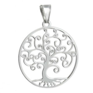 Tree-of-Life-Filigree-Pendant-925-Sterling-Silver-NEW-Laser-Cut-Family-Love