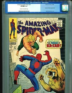 Amazing-Spider-Man-57-CGC-9-0-OLD-SLAB-Kazar-appearance-Marvel-comics-1968