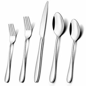 40-Piece Silverware Set for 8, Umite Chef Stainless Steel Flatware 40pcs