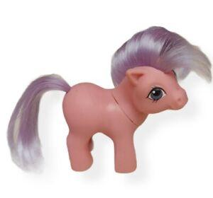 Vintage G1 My Little Pony MLP Baby Ember- Pink w/Purple Hair Bin N