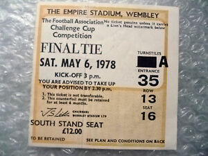 Tickets 1978 FA Cup FINAL Ticket Arsenal v Ipswich Town Exc OrgGenuine - <span itemprop=availableAtOrFrom>London, United Kingdom</span> - Returns accepted Most purchases from business sellers are protected by the Consumer Contract Regulations 2013 which give you the right to cancel the purchase within 14 days after the day y - London, United Kingdom