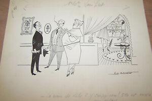 Badert Dessin Original Humoristique Paru Dans Ici-paris Signé