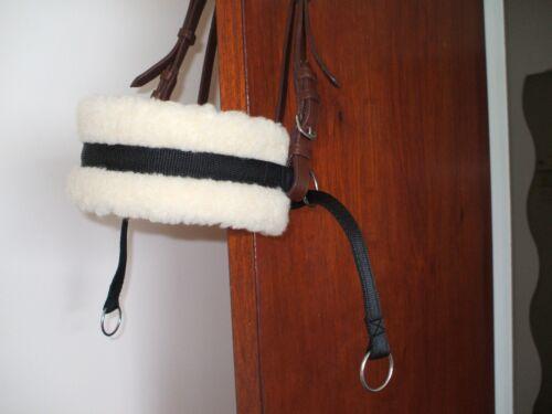 Bitless bridle attachment black cushion webbing cob//full size