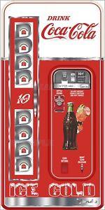 Coca Cola Fridge >> Details About Coca Cola Machine And Good Humor Printed Adhesive Vinyl Decal Fridge Freezer Lot