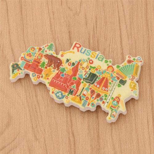 United Kingdom Russia Panoramic Fridge Magnet Home Decor Resin Travel Lovers 1pc
