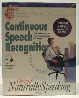 Dragon Naturally Speaking Continuous Speech Recognition Cd-rom - - Sealed