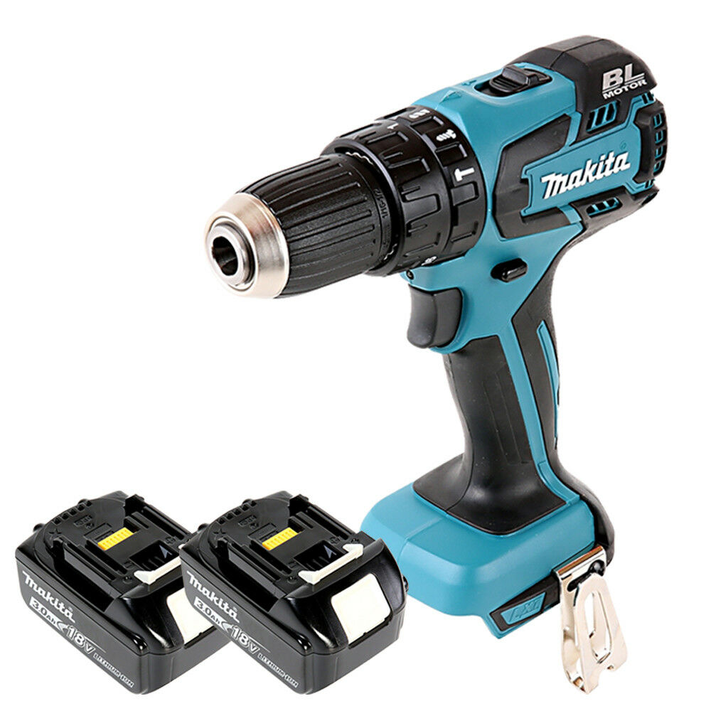 Makita DHP459 18V Li-ion LXT Brushless Combi Drill With 2 x 3Ah Batteries