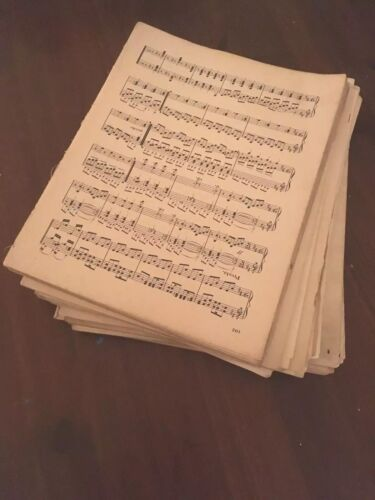 SHABBYCHIC A4 Ish 100g Vintage Sheet Music Paper WITH PENCIL MARKS ON Decoupage