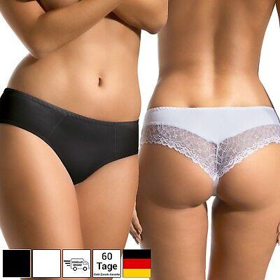 MOLTICO Damen Unterwäsche Slips Unterhosen Baumwoll Pantys Schwarz Weiß S M L XL