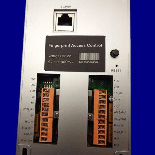 TCP IP RS485 Fingerprint RFID Pincode Voice WG26 output door lock Access Control