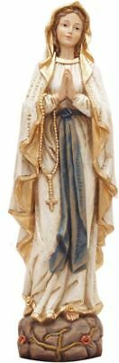 SchöN Madonna Von Lourdes Holzoptik Handbemalt Figurengröße Ca. 12 Cm Mutter Gottes