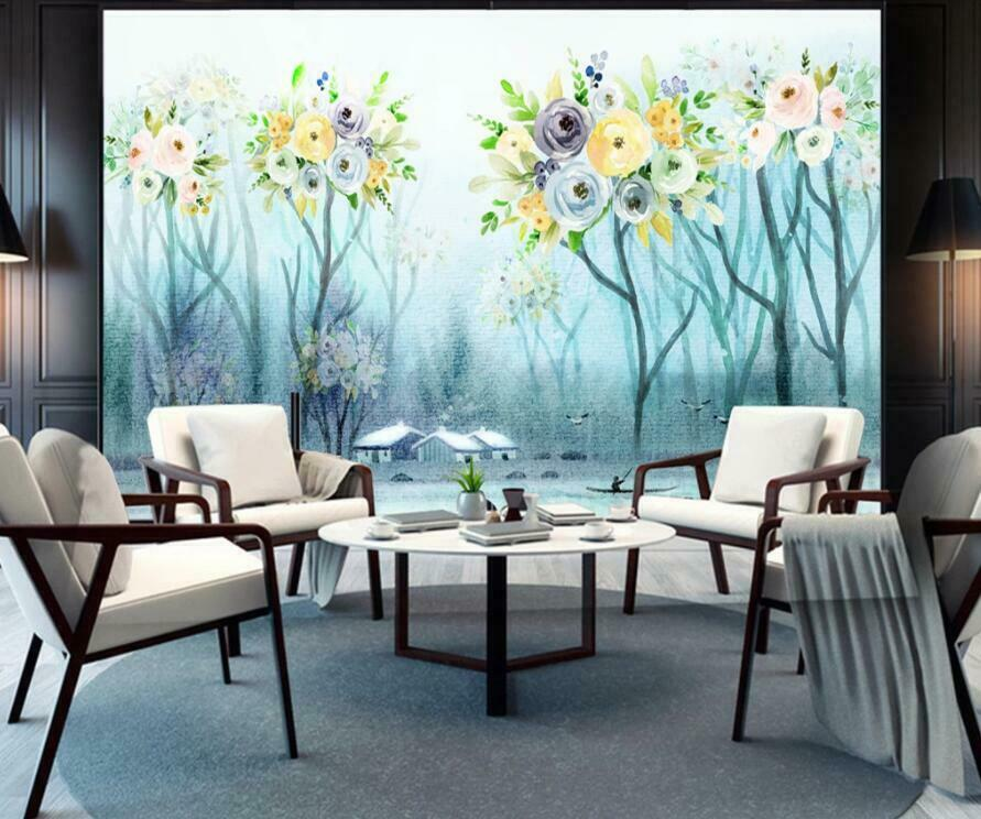 3D Blaume Malen H1487 Tapete Wandbild Selbstklebend Abnehmbare Aufkleber Wend