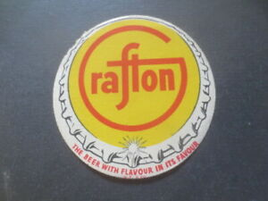 1-only-GRAFTON-Brewery-1960-s-Issue-BEER-COASTER-l
