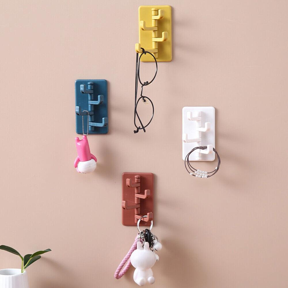CW/_ Creatvie Wall Mounted Door Towel Clothes Hanger Bathroom Hook Bag Key Holder