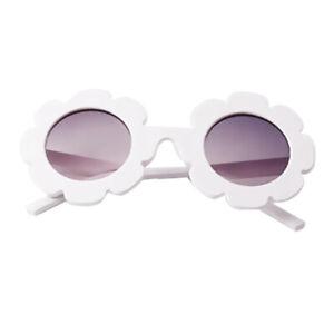 Baby Kids Boys Girls Cute Flower UV400 Sunglasses Round Goggles Glasses Gift 2PCS