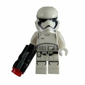 Details about 1 LEGO Minifigure First Order Stormtrooper (Pointed Mouth  Pattern) - blaster
