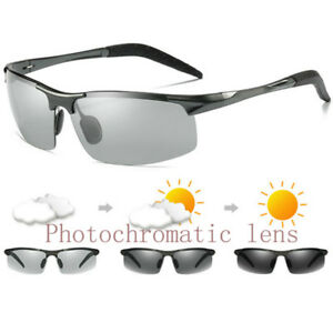 d7e778daf761 Image is loading Aluminium-Photochromic-Polarized-Sunglasses-Mens-Transition -Driving-Sun-