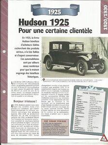 FICHE AUTOMOBILE - HUDSON 1925 zDQJZFec-09153528-288909974