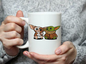 Baby Yoda and Baby Gizmo Ceramic Mug