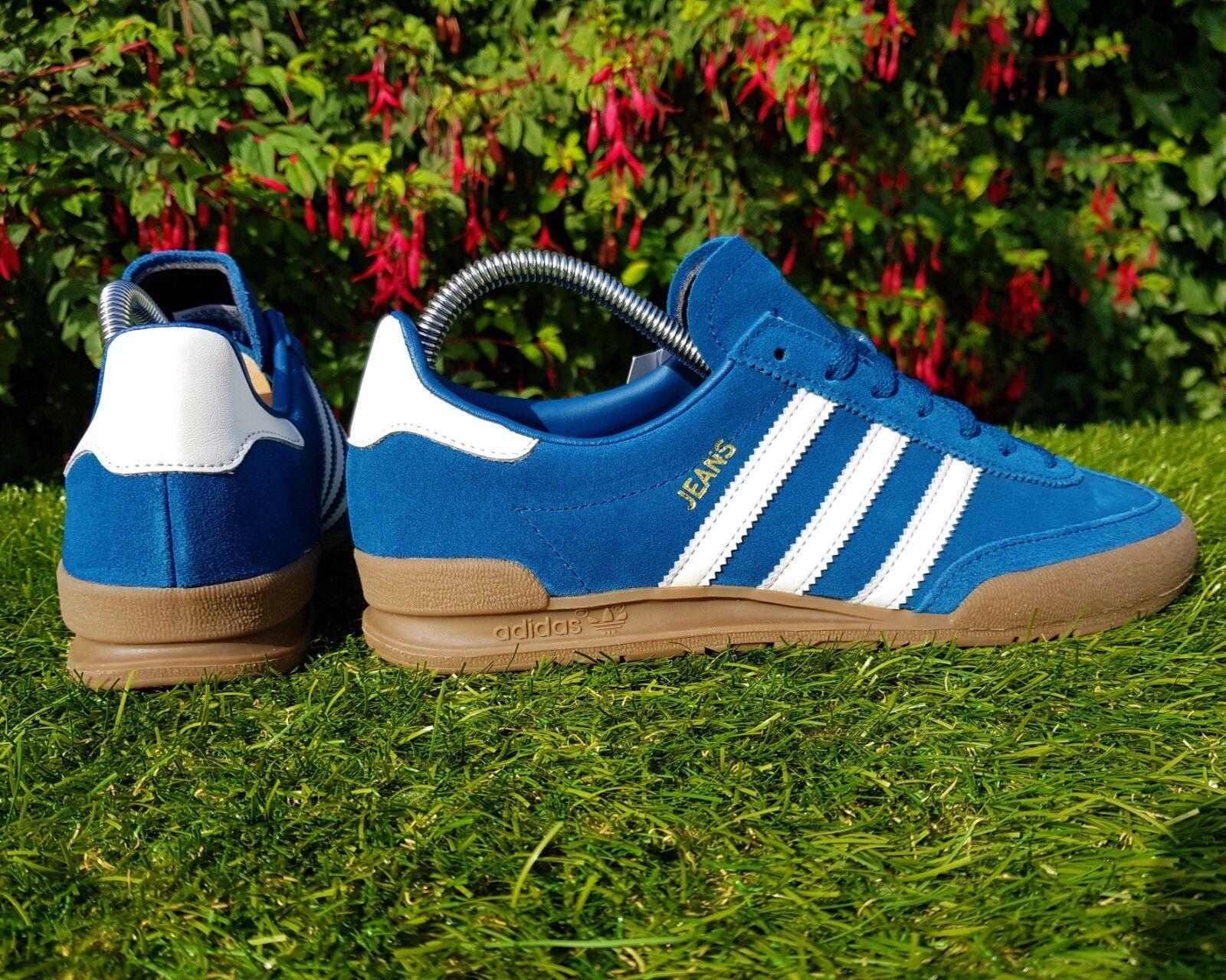 BNWB & Genuine adidas originals Jeans MkII Mk2 bluee Suede Trainers UK Size 10