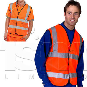 HI-VIS SAFETY VEST WAISTCOAT SUITABLE FOR SECURITY MARSHALL GUIDE STAFF PRESS