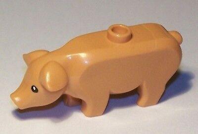 Minifig Flesh Pig with Black Eyes and White Pupils Pattern Animal LEGO