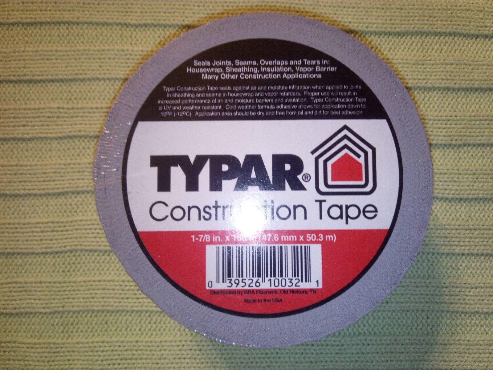 FIBERWEB TYPAR CONSTRUCTION TAPE 55 YARDS {1-7//8 in x 165 ft.}