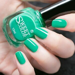 Image Is Loading 12ml Cool Sweet Candy Color Nail Polish Green
