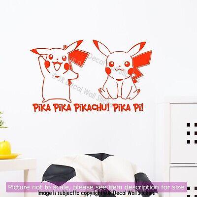 Pikachu Pokemon Wall Decal Kid Wall Art Nursery Stickers Kids Bedroom Wall Ebay