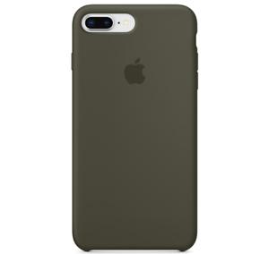 iPhone-8-7-PLUS-Apple-Original-Echt-Silikon-Schutz-Huelle-Dunkle-Olive