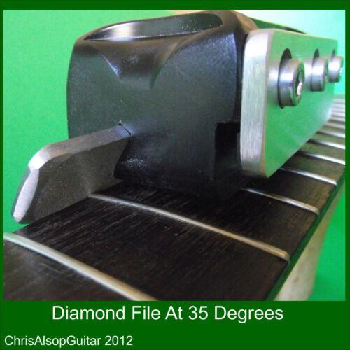 Dual Angle 90 /& 35 degrees Diamond File Fret Beveling TF014 Fret End Bevel File